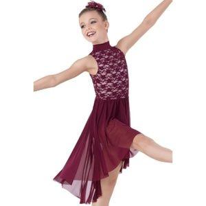 Weissman Stretch Lace Mock Turtleneck Dress